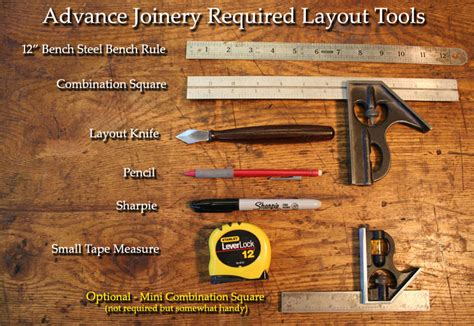 required tools jd lohr school  woodworking