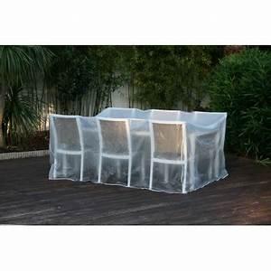 Housse Table De Jardin : housse de protection pour salon de jardin transparente ~ Teatrodelosmanantiales.com Idées de Décoration
