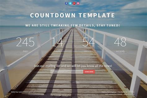 landing page countdown template  bootstrap templates