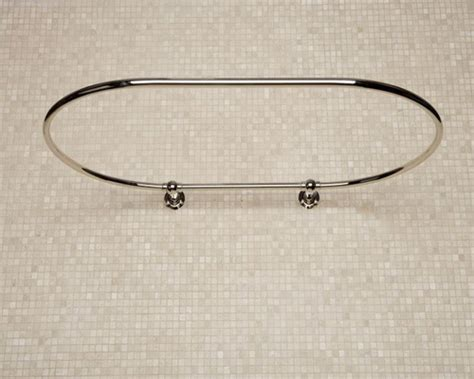 oval bathtub special u shaped curved shower curtain rod
