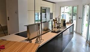 cuisine moderne en longueur modele alchimie With cuisine amenagee en longueur