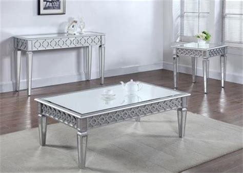 Silver Mirror Coffee Table And Sofa Table