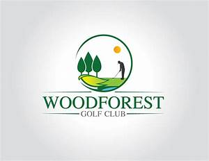 Logo Design for WOODFOREST Golf Club on Pantone Canvas Gallery