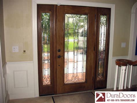 woodgrain plastpro door  odl classic style legacy master decorative glass duradoors