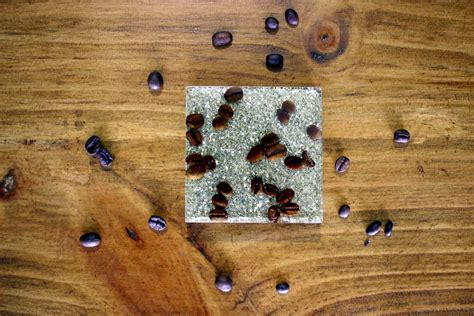 So naturally when i came across an amazing photo on pinterest of coffee bean coasters i had to make some! DIY Resin Coffee Bean Coaster - Handmade with Ashley