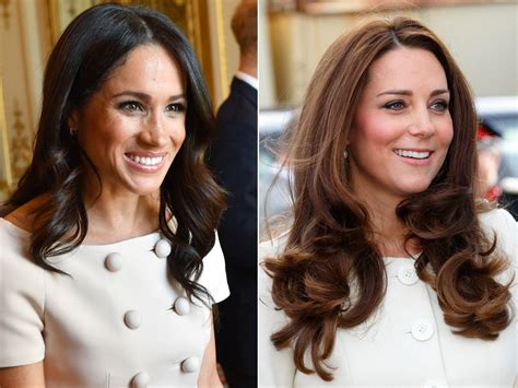 meghan markles  bouncy curls mirror kate middletons