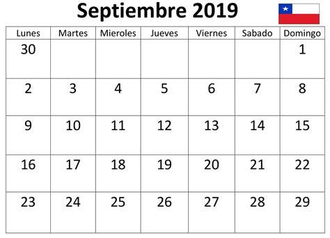 calendario septiembre chile word calendario