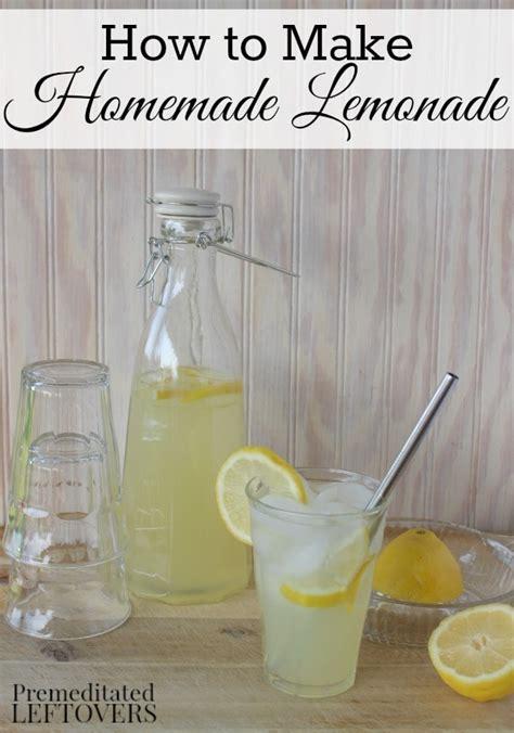 lemonade  fresh lemons  simple syrup