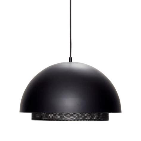 Suspension Noir Metal Hubsch Suspension Design Demi Sphere Metal Noir Perfore Kdesign