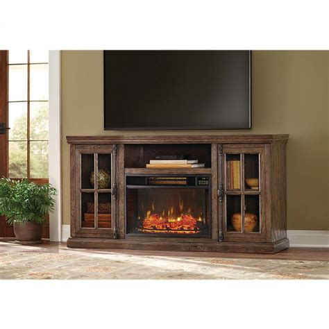electric fireplace tv stand home depot home decorators collection manor place 67 in tv stand