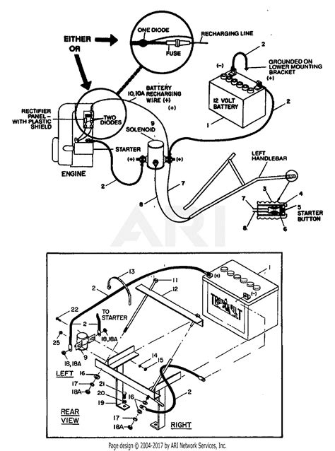 Electric Start Wiring Diagram by Troy Bilt Ii 8hp Roto Tiller S N 1001 639999 Parts