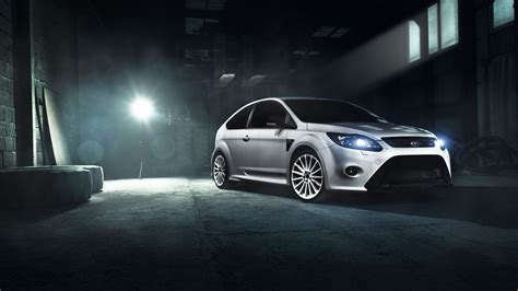 Ford Car Wallpaper Hd by Ford Focus Rs White Wallpaper Hd Car Wallpapers Id 6874