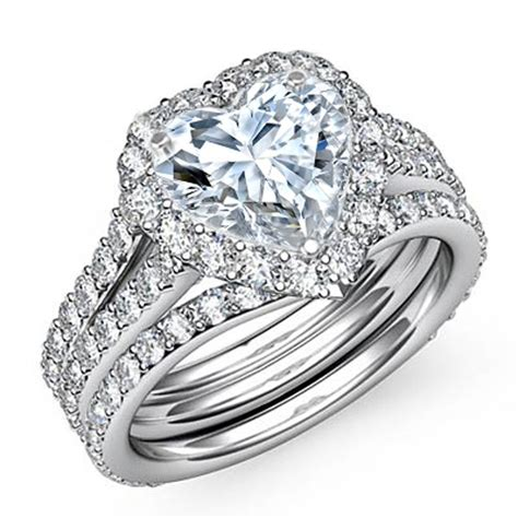 bridal diamond wedding ring sets center diamond not included select a center diamond here