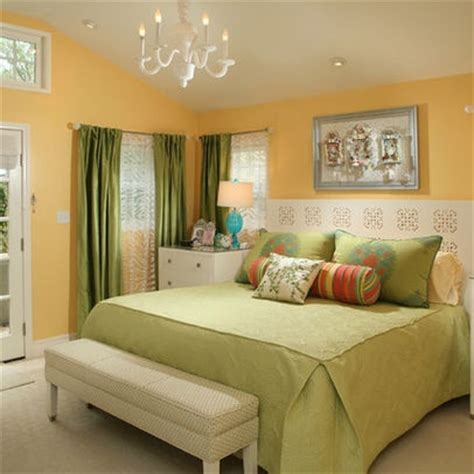 Yellow And Green Bedroom  Bedrooms Pinterest