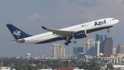 Azul Brazilian Airlines Departure   Airbus A330-200   PR-AIZ   Ft Lauderdale - YouTube