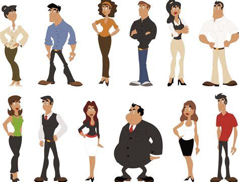 Cute Cartoon Characters 03 Vector Free Vector