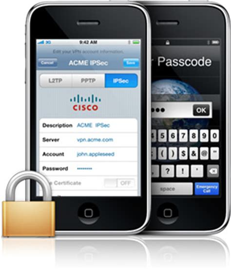 cisco iphone apple iphone supports cisco vpn client