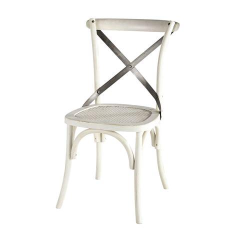 chaise de bistrot blanche chaise bistrot blanche tradition maisons du monde