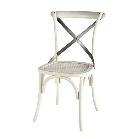 chaise bistrot blanche tradition maisons du monde