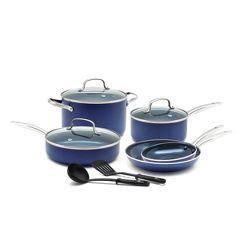 blue diamond pc cookware set blue ceramic nonstick cookware cookware set nonstick cookware