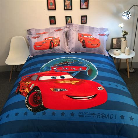disney lightning mcqueen cars 3d printed bedding