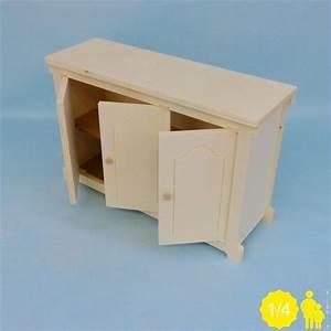 Meuble Bas 3 Portes : meuble bas miniature pour poup e 1 4 me 40 45 cm ~ Teatrodelosmanantiales.com Idées de Décoration