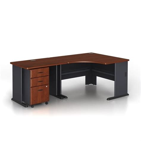 bush hansen cherry desk bush bbf series a 3 piece wood corner computer desk in