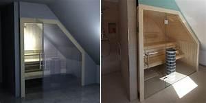 Sauna Mit Glasfront : sauna glasfront mit dachschr ge sauna pinterest ~ Orissabook.com Haus und Dekorationen