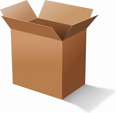 Box Clip Cardboard Vector Open Drawing Svg