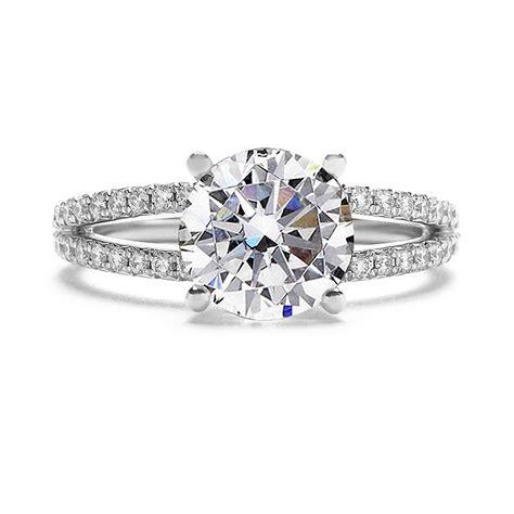 split shank diamond engagement ring setting only