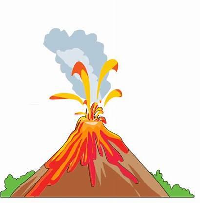 Volcano Clipart Cliparts Drawings Cartoon Eruption Funny
