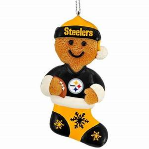 Pittsburgh Steelers Resin Gingerbread Man Ornament
