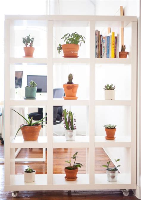 wall divider shelves 15 plant wall ideas for room dividers house 3308