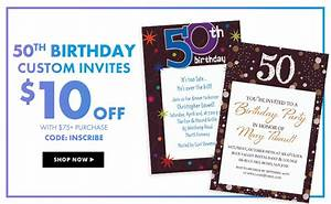 milestone birthday banners top themes party city With party city wedding invitations coupons