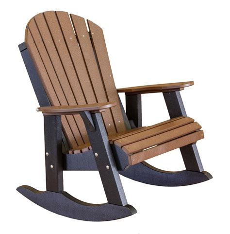heritage outdoor fan back rocking chair the rocking