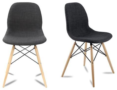 chaise moderne de salle a manger lot de 2 chaises design doki doki couleur gris