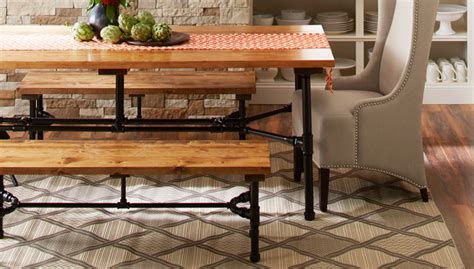 kitchen furnitur pipe frame harvest table