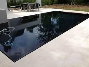 piscine de couleur noire en pierre volcanique carrelage et With margelle noire pour piscine