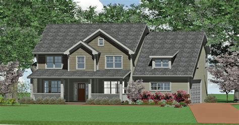 [ Home Plans Design Craftsman Style Home Custom Craftsman