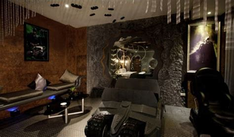 dark bedroom design  batman themes homemydesign
