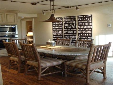 rustic dining room lighting modern rustic dining room