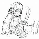 Jason Coloring Pages Voorhees Mask Horror Drawing Dean Icons Printable Getdrawings Getcolorings sketch template