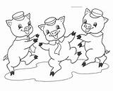 Pigs Three Coloring Pages Printable sketch template