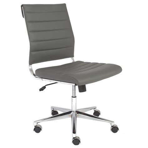 armless desk chair alex modern armless low back office chair eurway