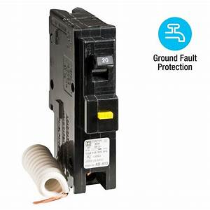 Square D Homeline 20 Amp Single-pole Gfci Circuit Breaker-hom120gficp