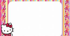 Hello Kitty Floral Stripe PNG Frame - Printable PNG Frames ...
