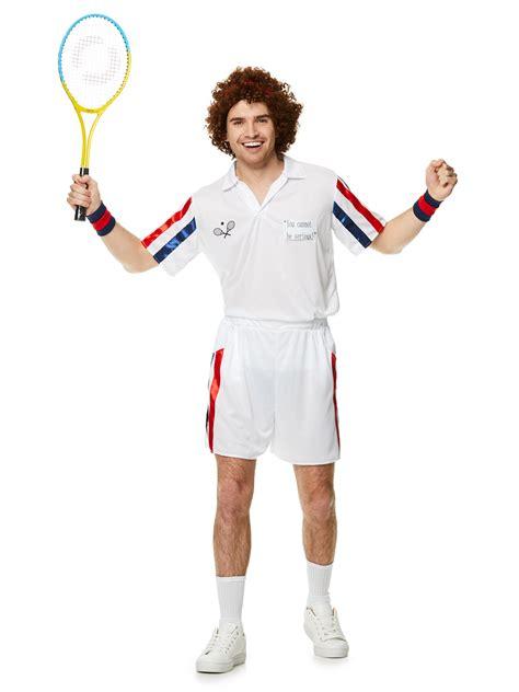 mens  tennis player costume john mcenroe sport fancy dress party wimbledon ebay
