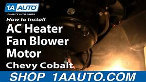How To Replace Heater Blower Motor With Fan Cage 05