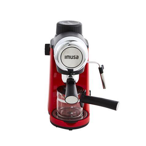 It's no wonder that espresso is the most common coffee beverage all over the world. IMUSA IMUSA Electric Espresso/Cappuccino Maker 4 Cup 800 W, Red - IMUSA