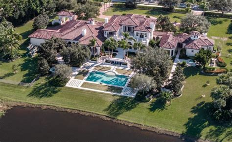 mediterranean style waterfront mansion  delray beach